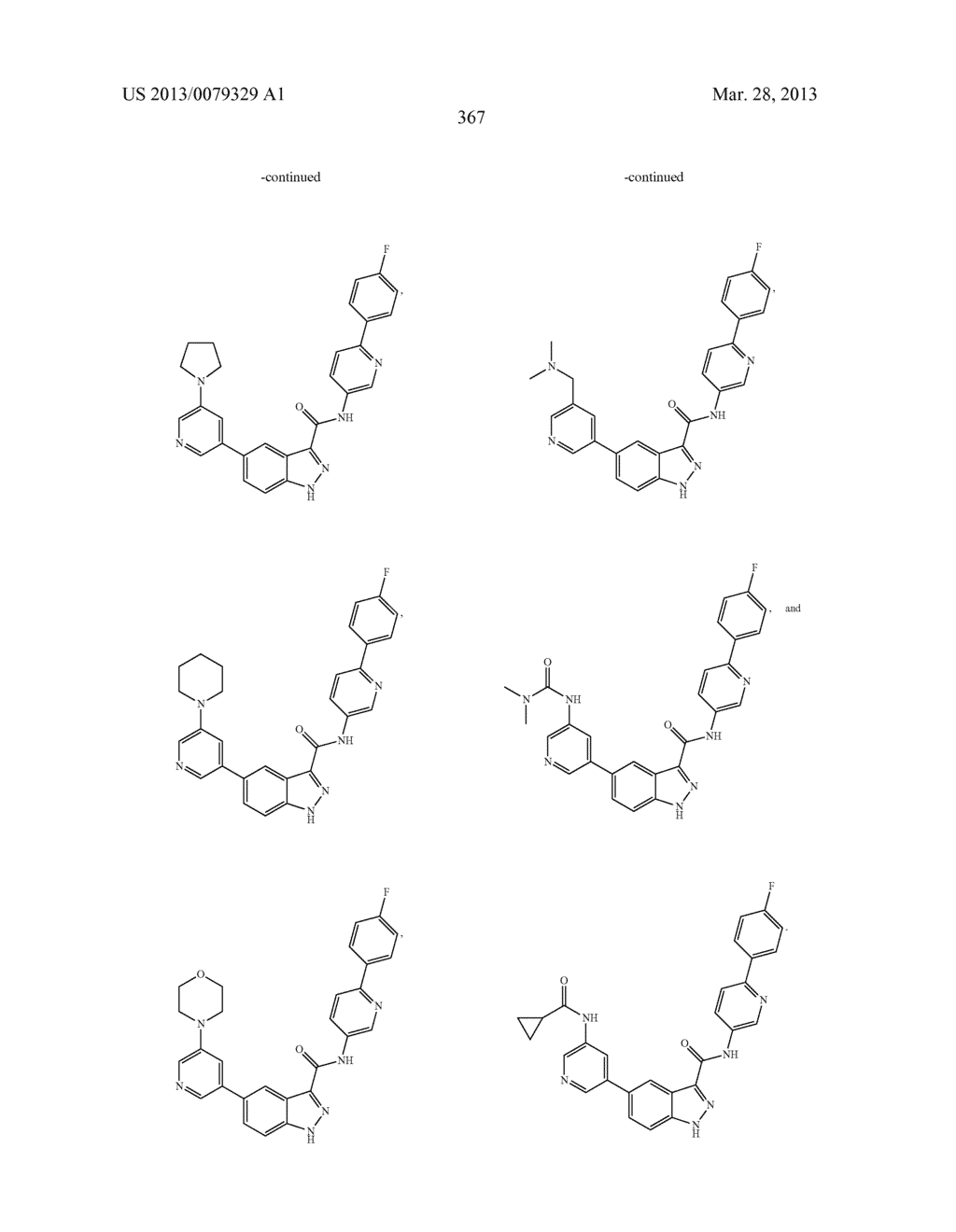 INDAZOLE-3-CARBOXAMIDES AND THEIR USE AS WNT/Beta-CATENIN SIGNALING     PATHWAY INHIBITORS - diagram, schematic, and image 368