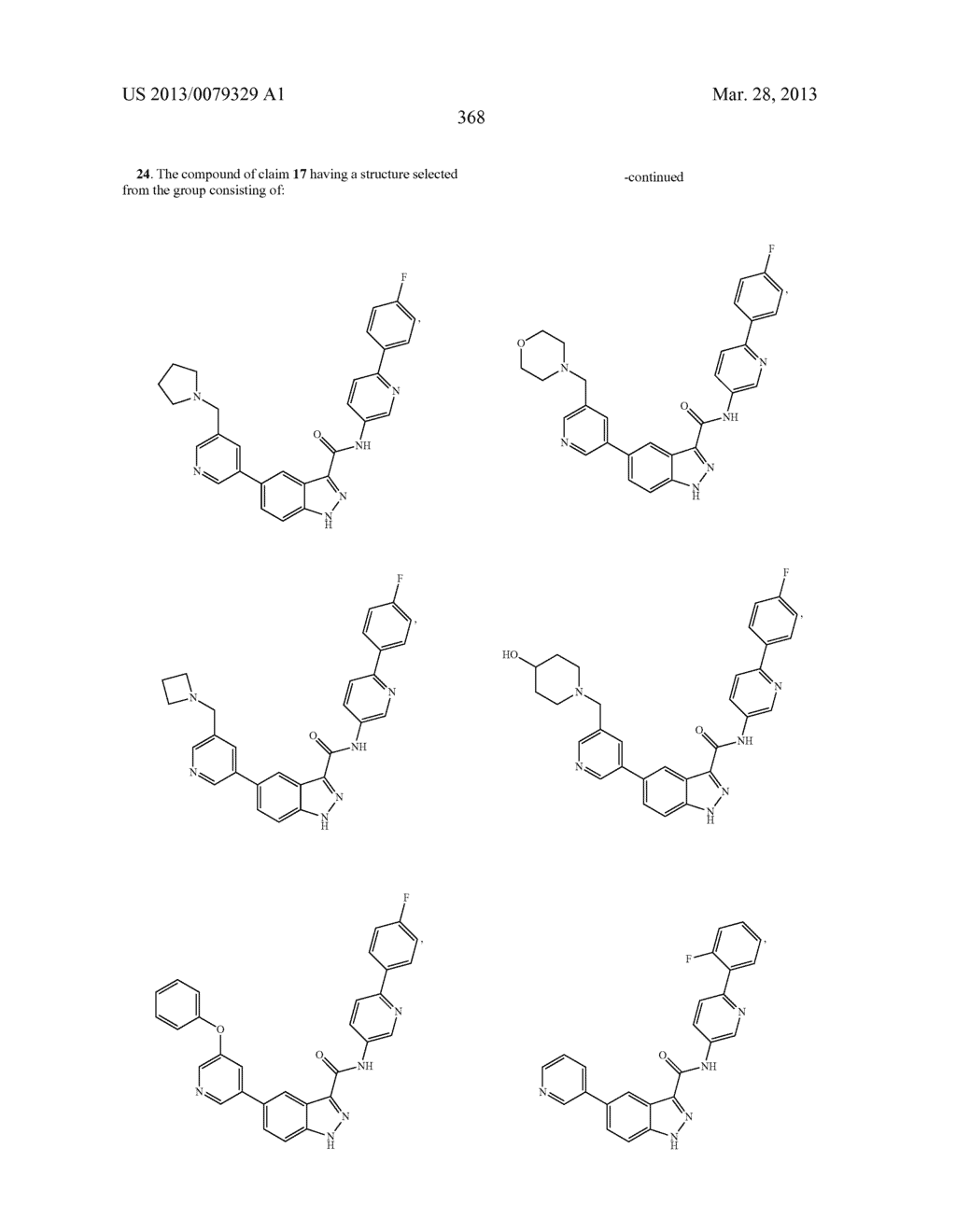 INDAZOLE-3-CARBOXAMIDES AND THEIR USE AS WNT/Beta-CATENIN SIGNALING     PATHWAY INHIBITORS - diagram, schematic, and image 369