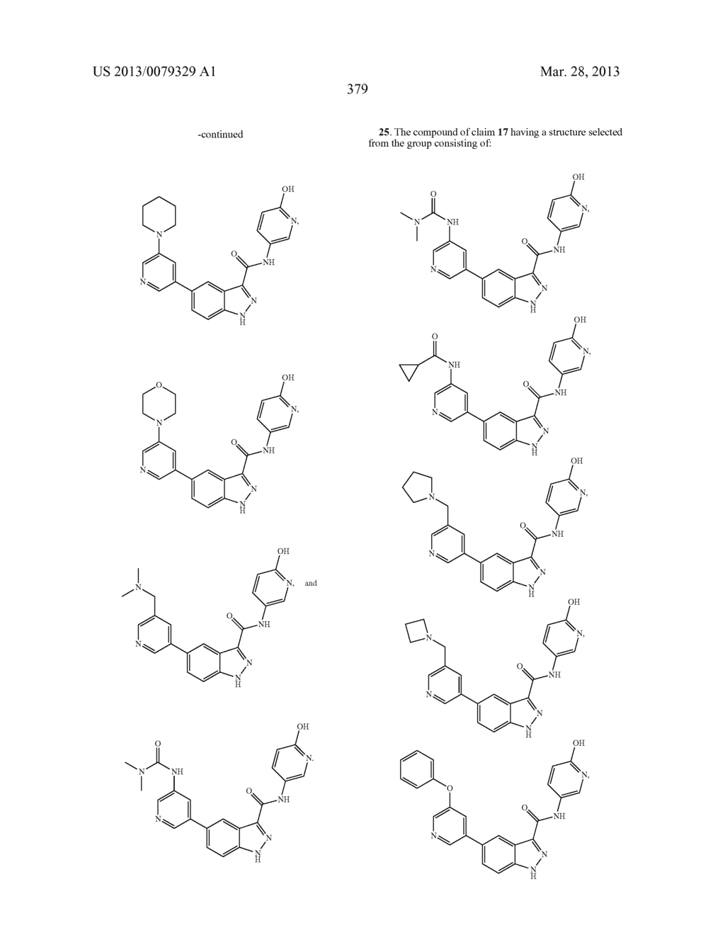 INDAZOLE-3-CARBOXAMIDES AND THEIR USE AS WNT/Beta-CATENIN SIGNALING     PATHWAY INHIBITORS - diagram, schematic, and image 380