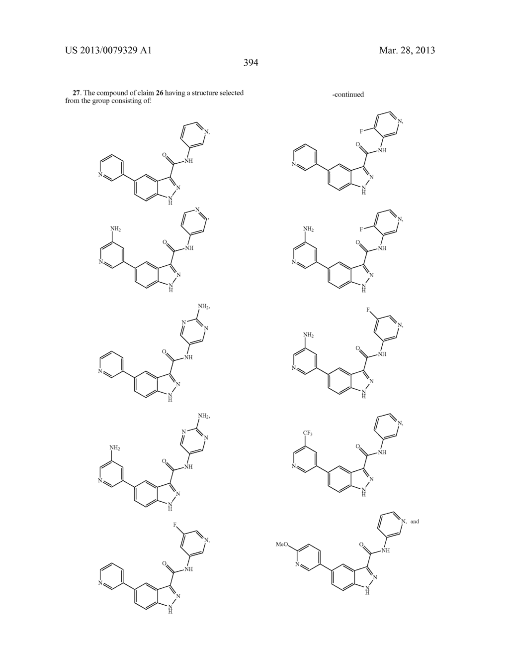 INDAZOLE-3-CARBOXAMIDES AND THEIR USE AS WNT/Beta-CATENIN SIGNALING     PATHWAY INHIBITORS - diagram, schematic, and image 395