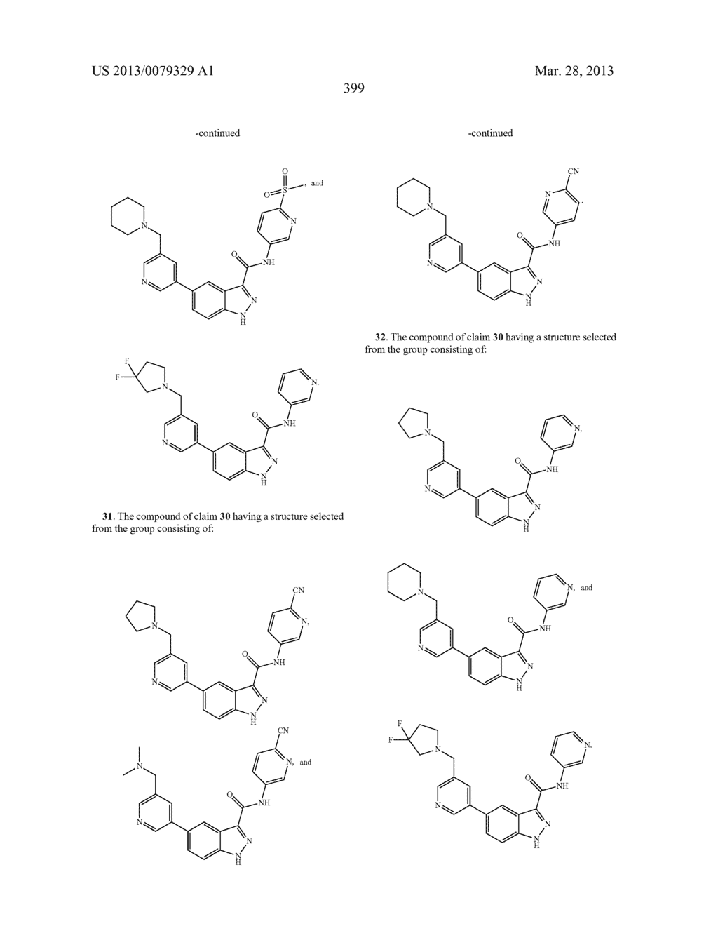 INDAZOLE-3-CARBOXAMIDES AND THEIR USE AS WNT/Beta-CATENIN SIGNALING     PATHWAY INHIBITORS - diagram, schematic, and image 400