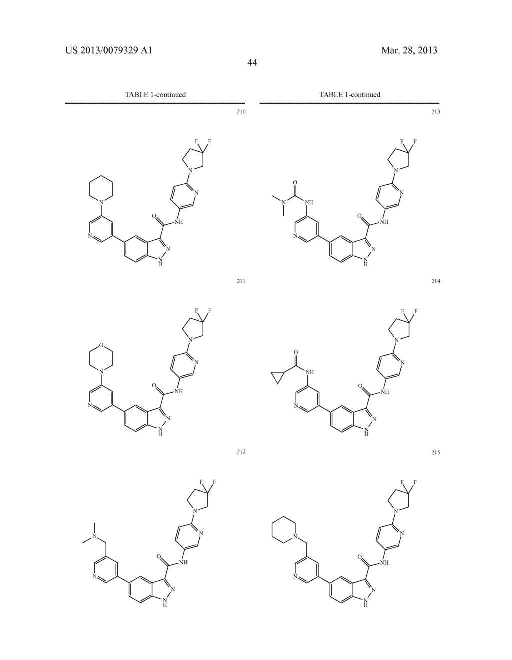INDAZOLE-3-CARBOXAMIDES AND THEIR USE AS WNT/Beta-CATENIN SIGNALING     PATHWAY INHIBITORS - diagram, schematic, and image 45