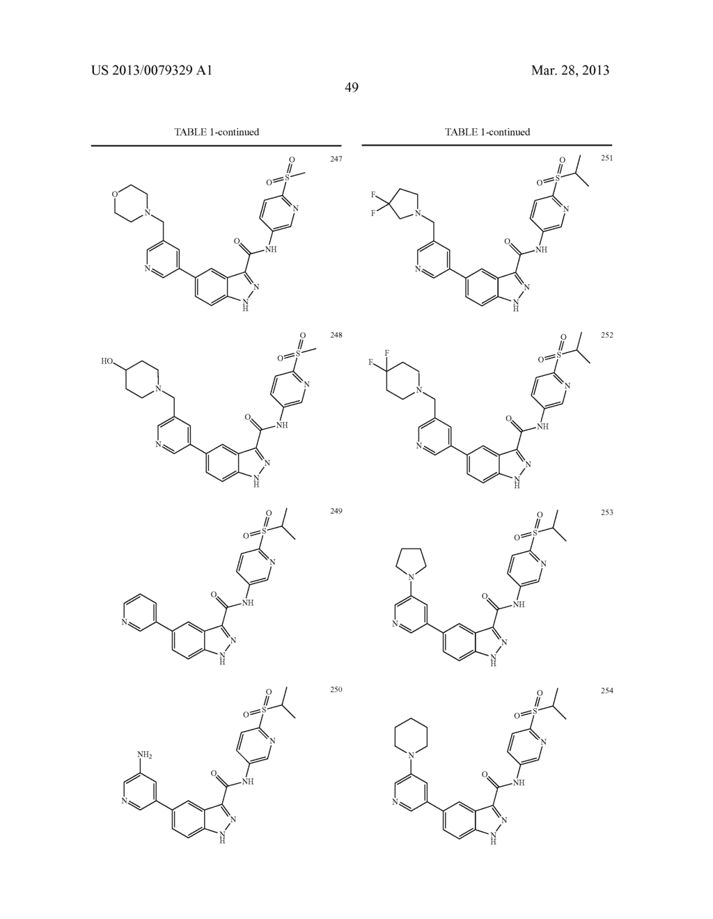 INDAZOLE-3-CARBOXAMIDES AND THEIR USE AS WNT/Beta-CATENIN SIGNALING     PATHWAY INHIBITORS - diagram, schematic, and image 50