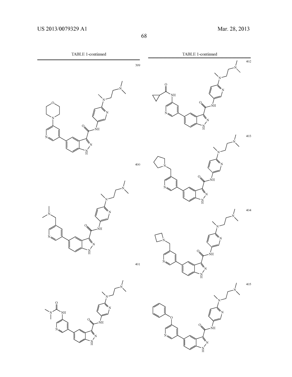 INDAZOLE-3-CARBOXAMIDES AND THEIR USE AS WNT/Beta-CATENIN SIGNALING     PATHWAY INHIBITORS - diagram, schematic, and image 69