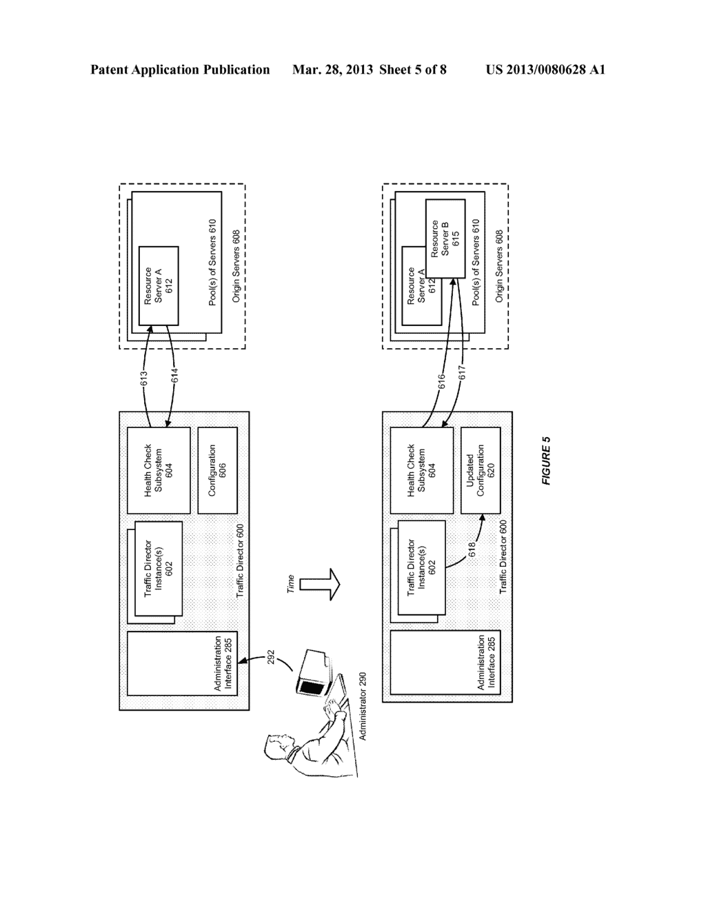 SYSTEM AND METHOD FOR DYNAMIC DISCOVERY OF ORIGIN SERVERS IN A TRAFFIC     DIRECTOR ENVIRONMENT - diagram, schematic, and image 06