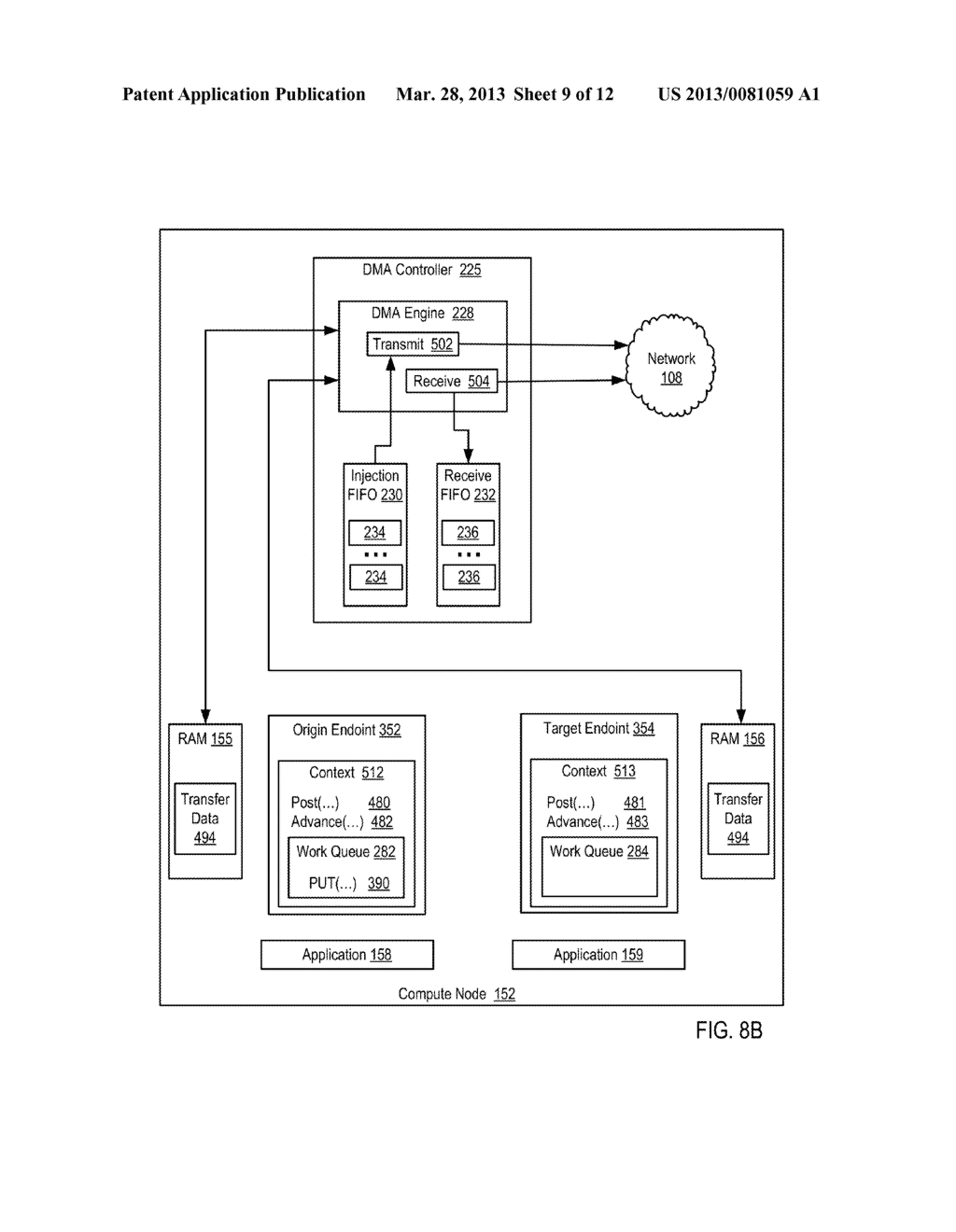 DATA COMMUNICATIONS IN A PARALLEL ACTIVE MESSAGING INTERFACE OF A PARALLEL     COMPUTER - diagram, schematic, and image 10