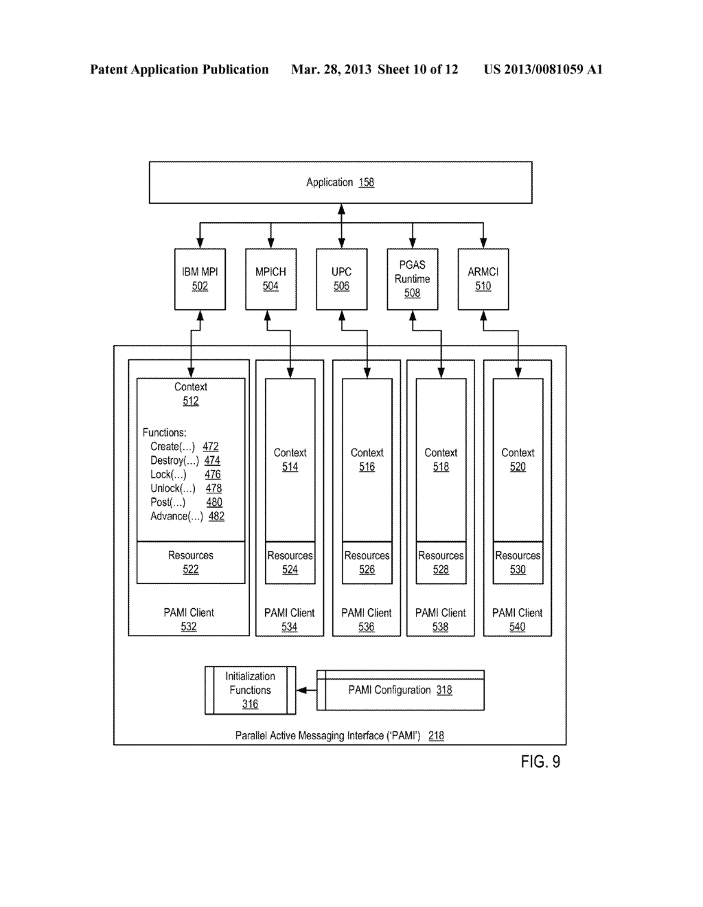 DATA COMMUNICATIONS IN A PARALLEL ACTIVE MESSAGING INTERFACE OF A PARALLEL     COMPUTER - diagram, schematic, and image 11