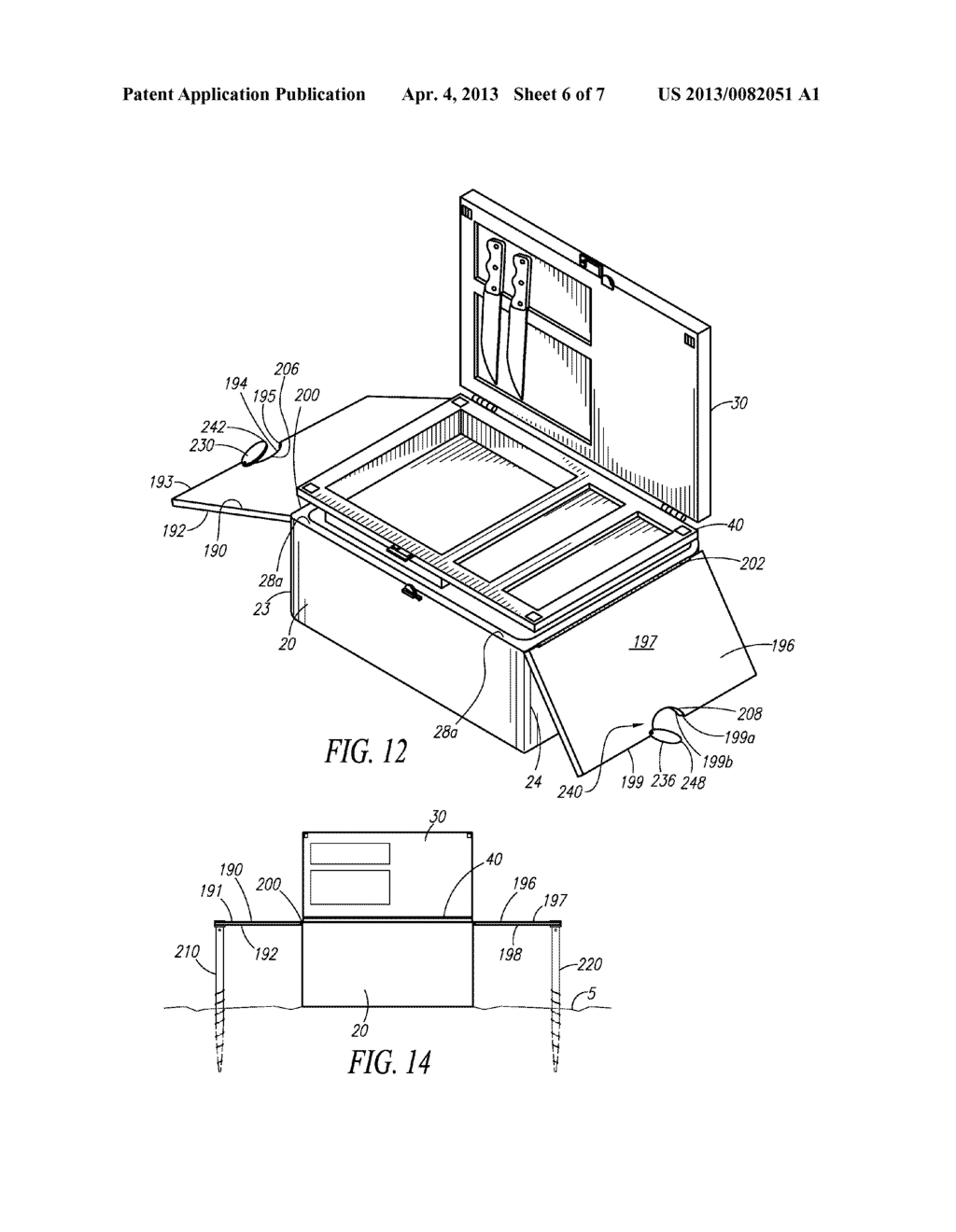 Retrofittable Double Lid For Storage Container - diagram, schematic, and image 07