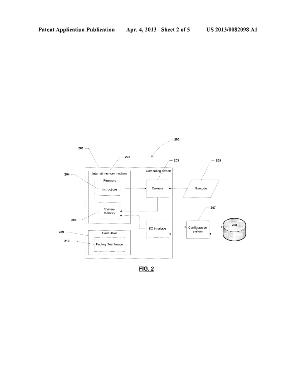APPARATUS AND METHOD FOR AUTOMATICALLY PROVIDING INFORMATION TO A NEW     COMPUTER - diagram, schematic, and image 03
