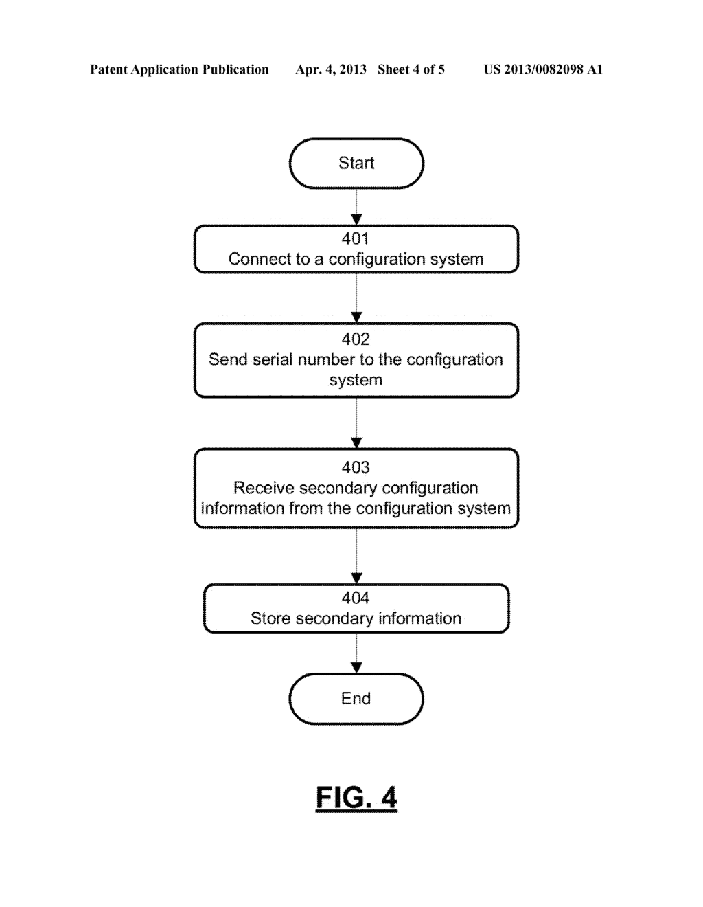 APPARATUS AND METHOD FOR AUTOMATICALLY PROVIDING INFORMATION TO A NEW     COMPUTER - diagram, schematic, and image 05