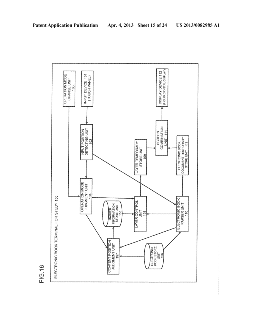 CONTENT DISPLAY APPARATUS, AND CONTENT DISPLAY METHOD - diagram, schematic, and image 16