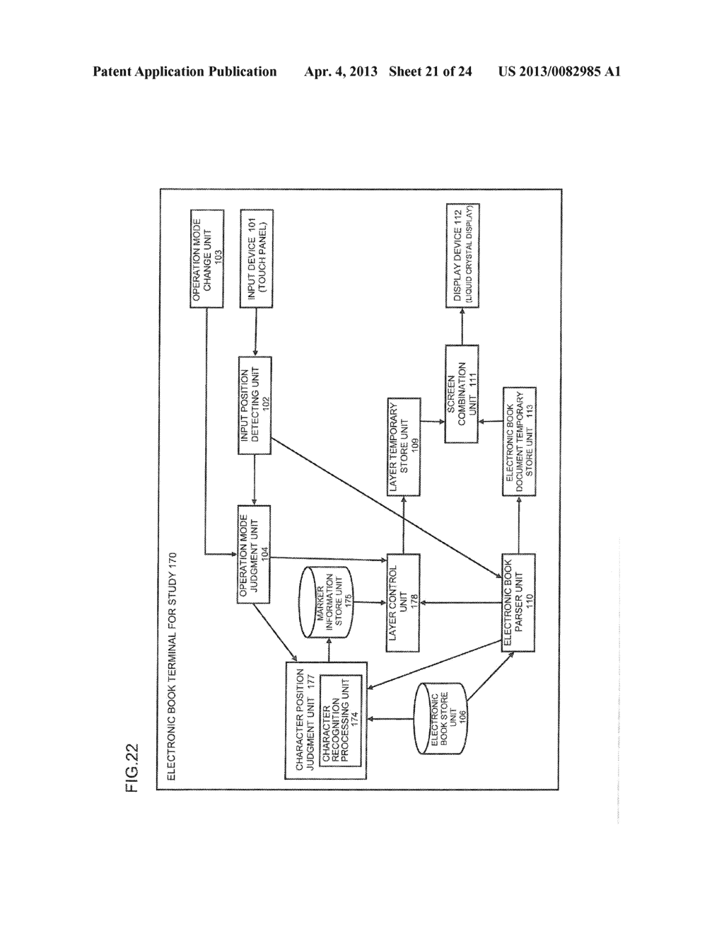 CONTENT DISPLAY APPARATUS, AND CONTENT DISPLAY METHOD - diagram, schematic, and image 22