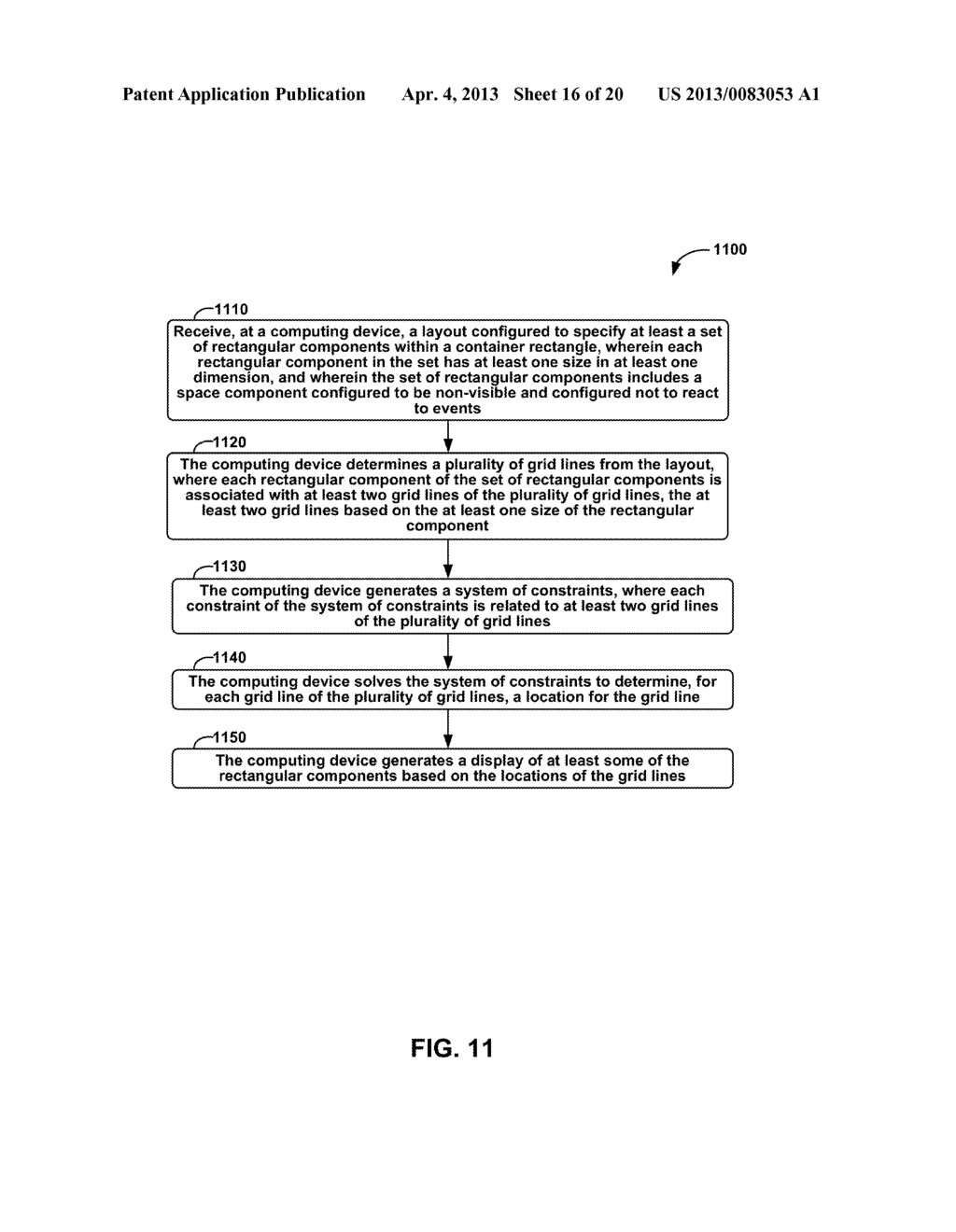 METHODS AND APPARATUS FOR GENERAL SOLUTION OF THE TWO-DIMENSIONAL LAYOUT     PROBLEM BY REDUCTION TO A SINGLE-SOURCE PATH-LENGTH PROBLEM ON A WEIGHTED     GRAPH - diagram, schematic, and image 17