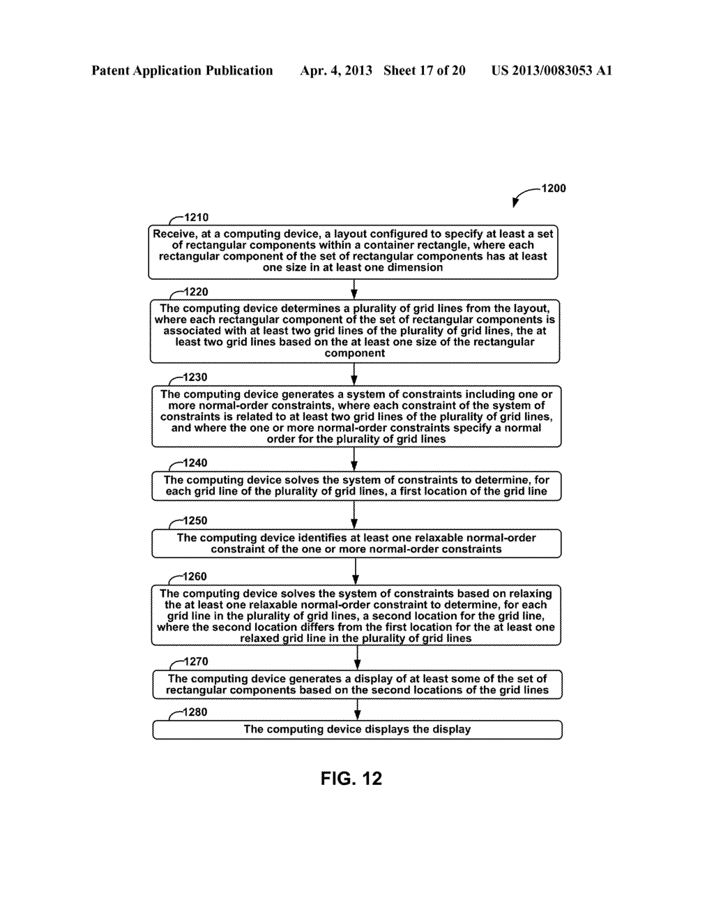 METHODS AND APPARATUS FOR GENERAL SOLUTION OF THE TWO-DIMENSIONAL LAYOUT     PROBLEM BY REDUCTION TO A SINGLE-SOURCE PATH-LENGTH PROBLEM ON A WEIGHTED     GRAPH - diagram, schematic, and image 18