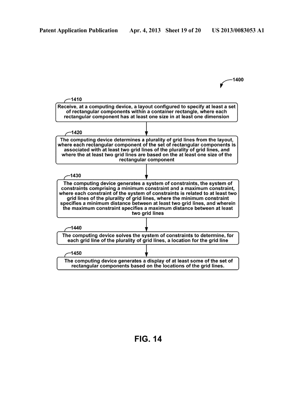 METHODS AND APPARATUS FOR GENERAL SOLUTION OF THE TWO-DIMENSIONAL LAYOUT     PROBLEM BY REDUCTION TO A SINGLE-SOURCE PATH-LENGTH PROBLEM ON A WEIGHTED     GRAPH - diagram, schematic, and image 20