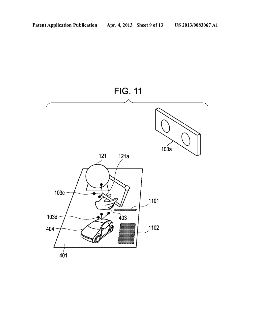 INFORMATION PROCESSING METHOD AND DEVICE FOR PRESENTING HAPTICS RECEIVED     FROM A VIRTUAL OBJECT - diagram, schematic, and image 10
