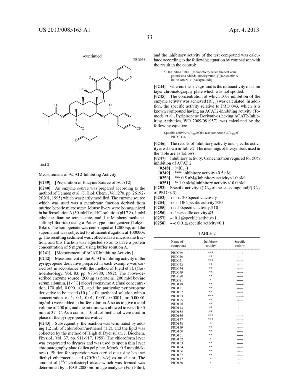 Pyripyropene Derivative Having ACAT2 Inhibiting Activity and Stable to     Metabolizing Enzymes - diagram, schematic, and image 34