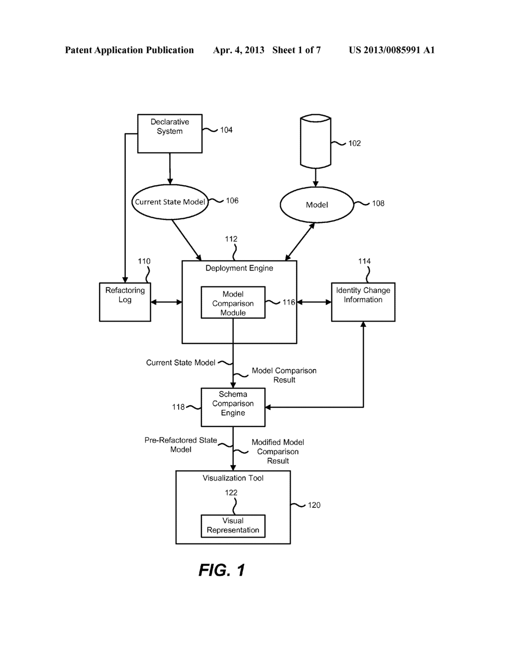 Reverting a Current State Model of a Database to a Pre-refactored State - diagram, schematic, and image 02