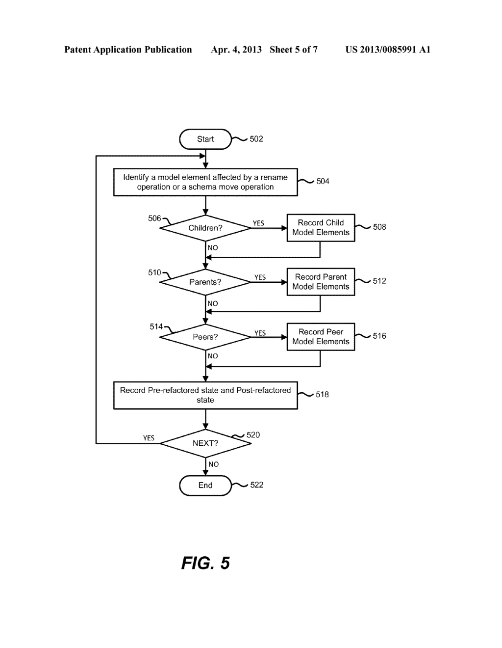 Reverting a Current State Model of a Database to a Pre-refactored State - diagram, schematic, and image 06