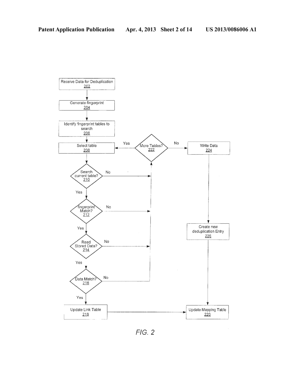METHOD FOR REMOVING DUPLICATE DATA FROM A STORAGE ARRAY - diagram, schematic, and image 03