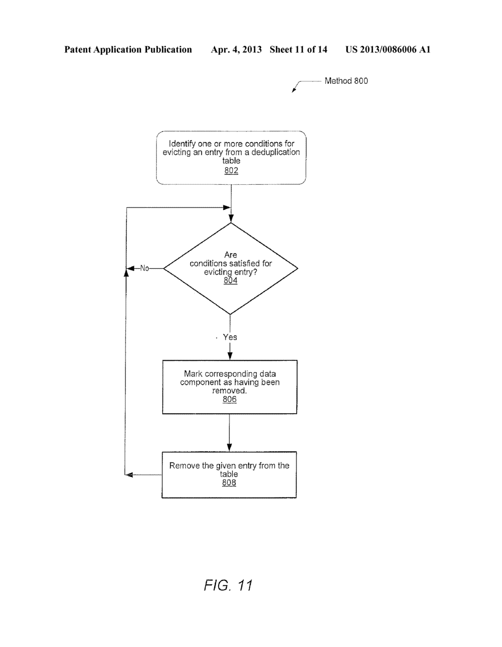 METHOD FOR REMOVING DUPLICATE DATA FROM A STORAGE ARRAY - diagram, schematic, and image 12