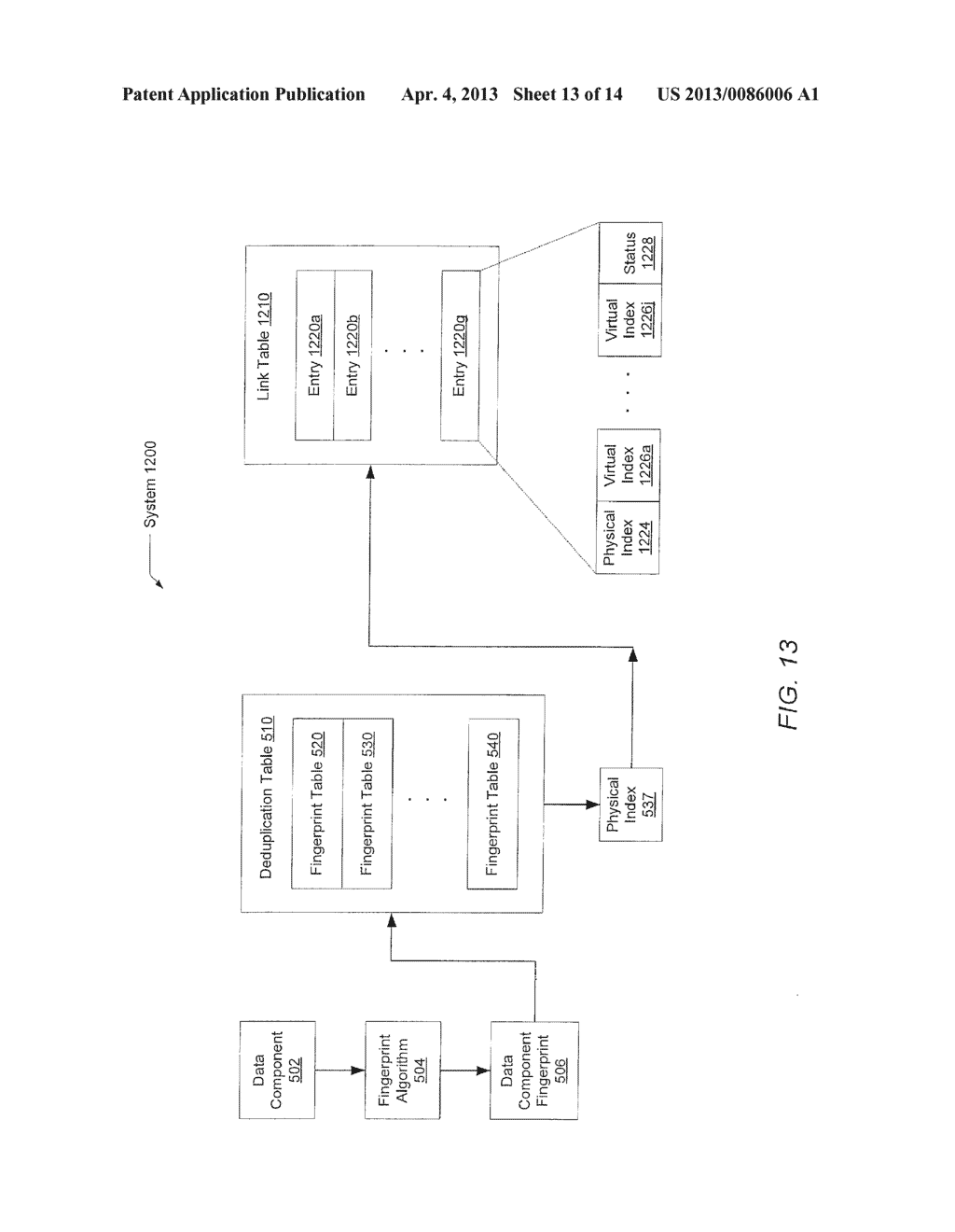 METHOD FOR REMOVING DUPLICATE DATA FROM A STORAGE ARRAY - diagram, schematic, and image 14