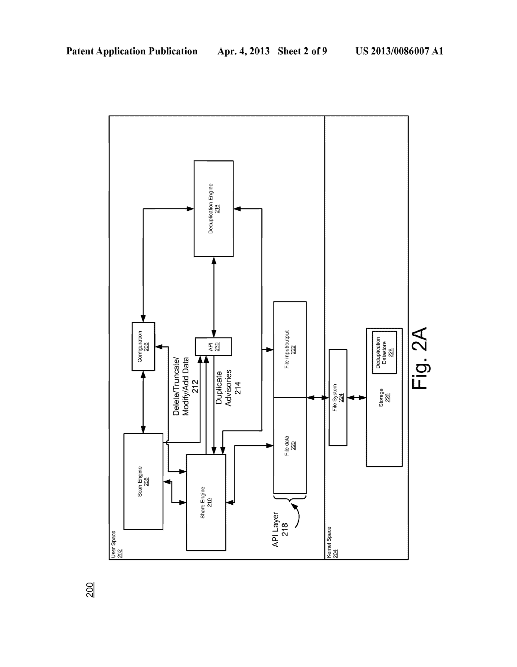 SYSTEM AND METHOD FOR FILESYSTEM DEDUPLICATION USING VARIABLE LENGTH     SHARING - diagram, schematic, and image 03