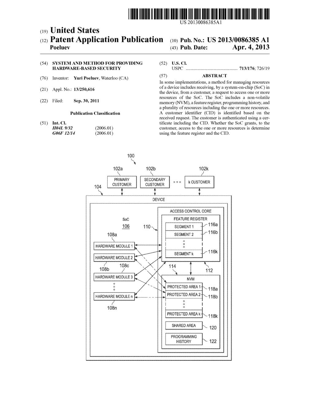System and Method for Providing Hardware-Based Security - diagram, schematic, and image 01