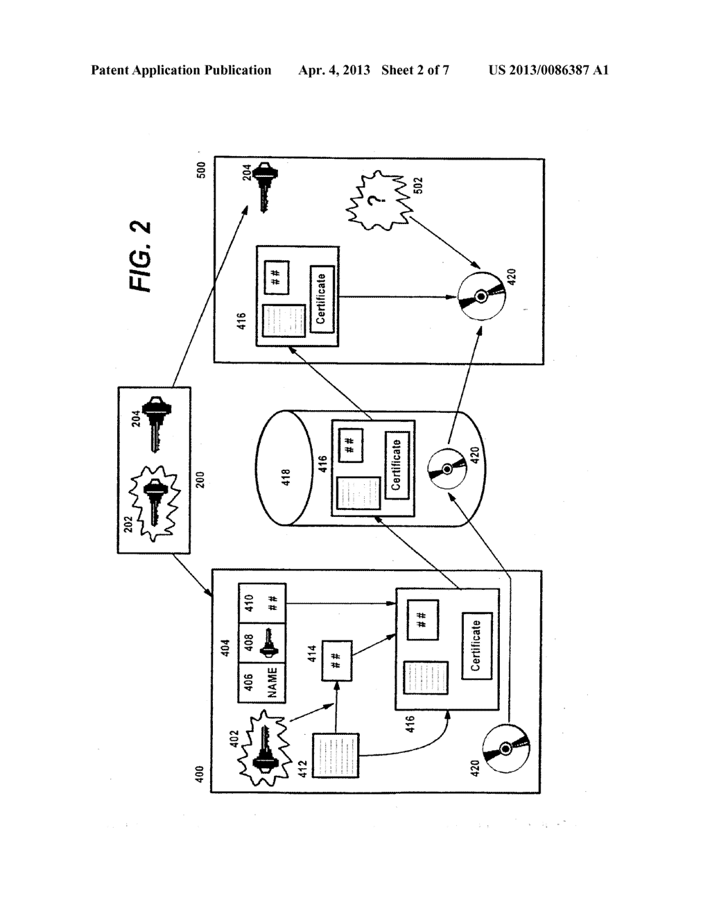 Method for Certifying and Verifying Digital Web Content Using Public     Cryptography - diagram, schematic, and image 03