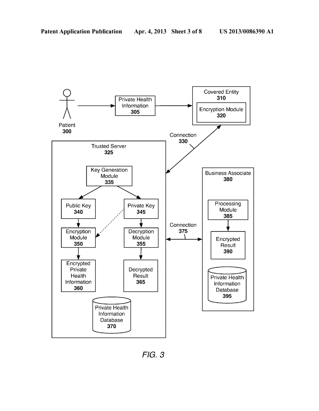 System and Method of Securing Private Health Information - diagram, schematic, and image 04
