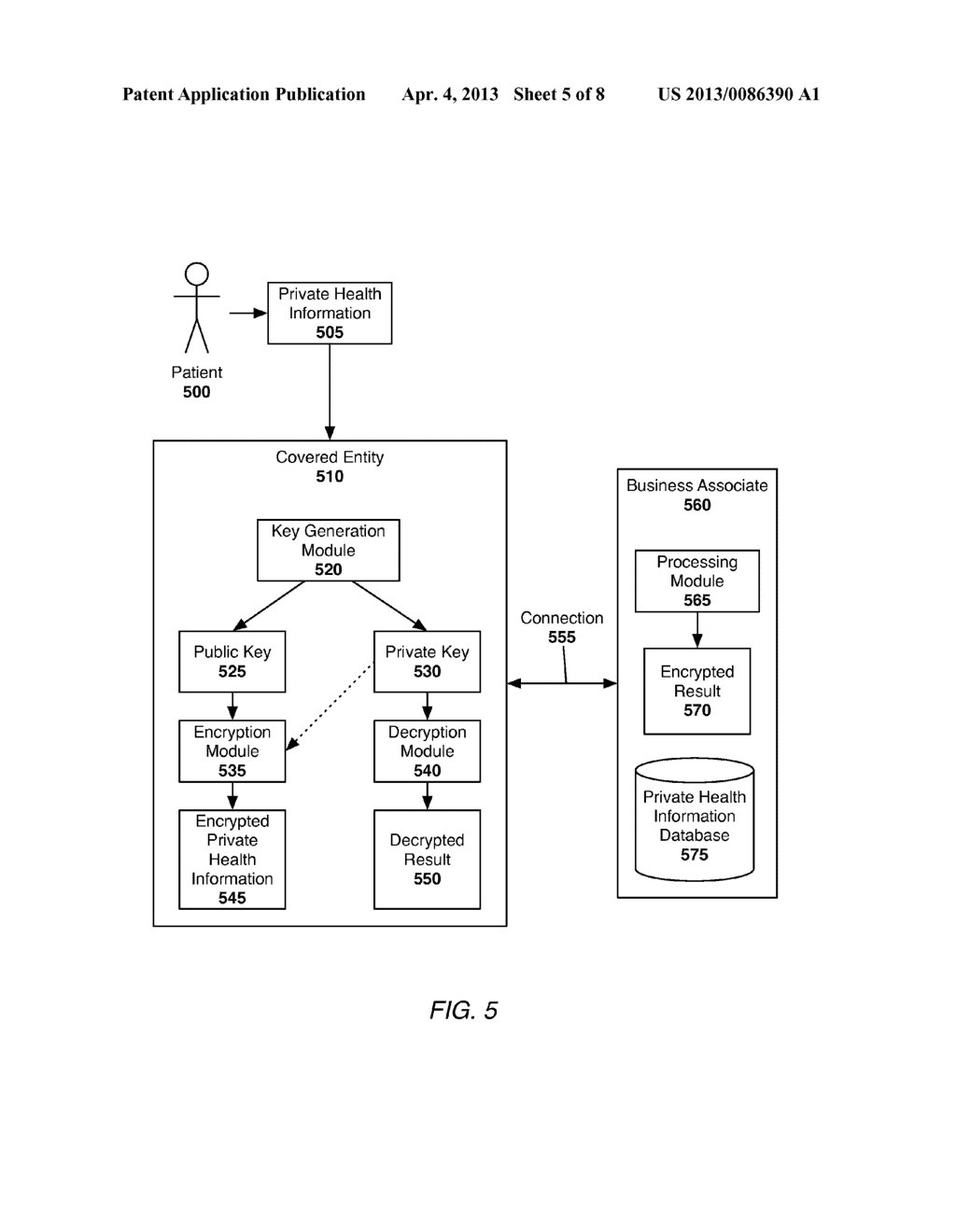 System and Method of Securing Private Health Information - diagram, schematic, and image 06