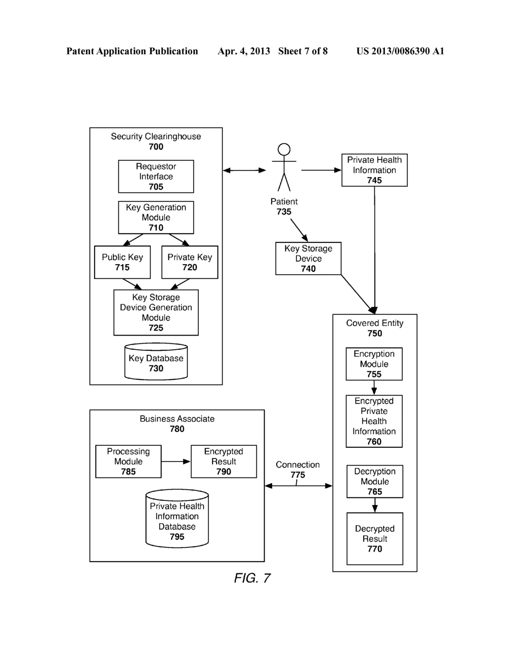 System and Method of Securing Private Health Information - diagram, schematic, and image 08