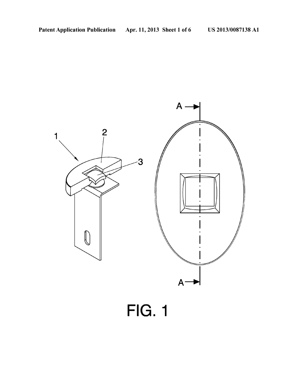 SYSTEM AND METHOD FOR THE ARTICULATED ATTACHMENT OF SOLAR REFLECTOR     ELEMENTS TO SUPPORTING STRUCTURES - diagram, schematic, and image 02