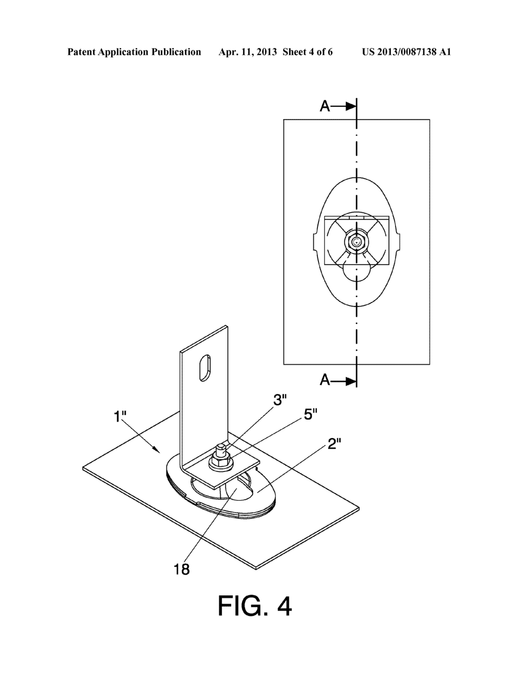 SYSTEM AND METHOD FOR THE ARTICULATED ATTACHMENT OF SOLAR REFLECTOR     ELEMENTS TO SUPPORTING STRUCTURES - diagram, schematic, and image 05