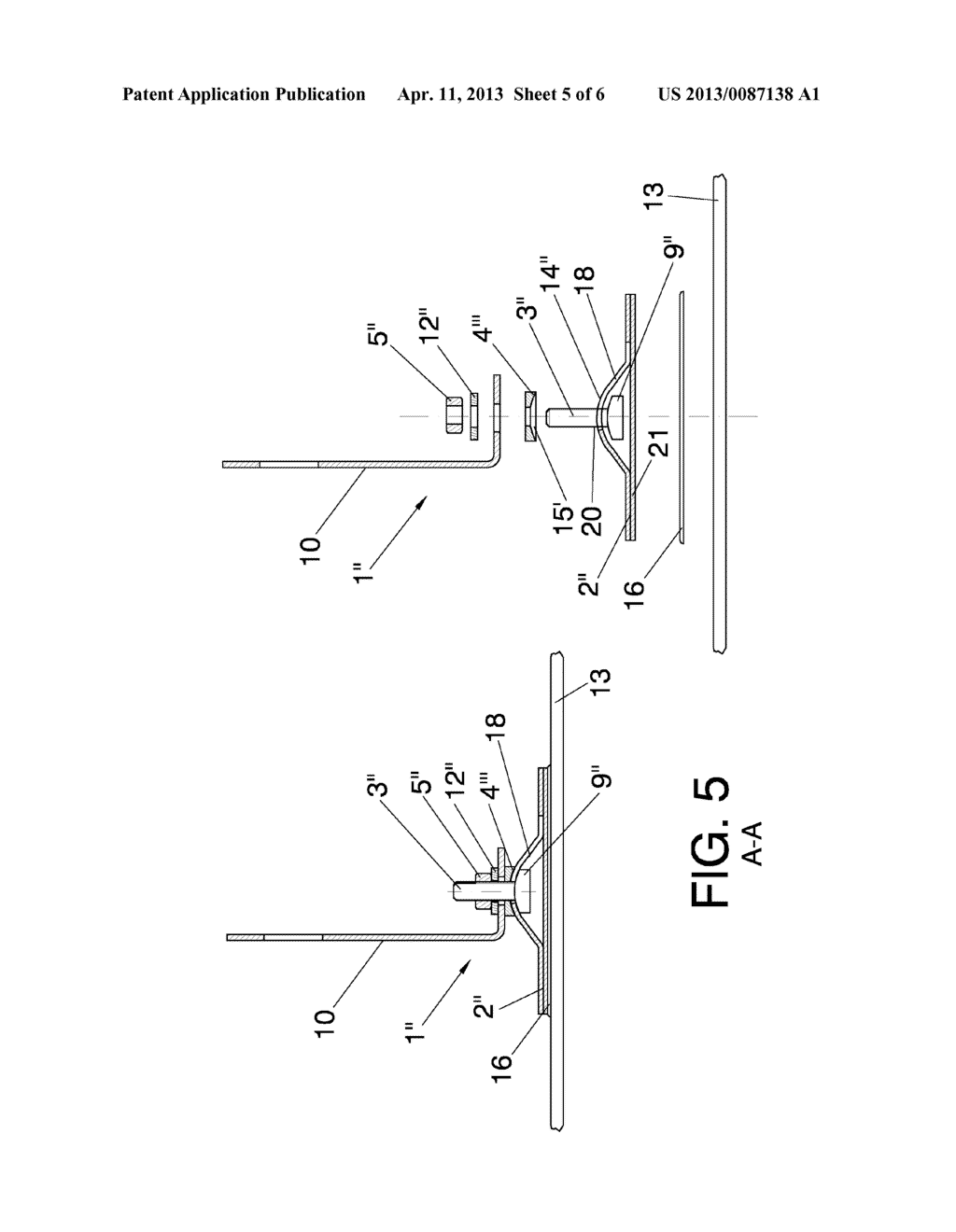 SYSTEM AND METHOD FOR THE ARTICULATED ATTACHMENT OF SOLAR REFLECTOR     ELEMENTS TO SUPPORTING STRUCTURES - diagram, schematic, and image 06
