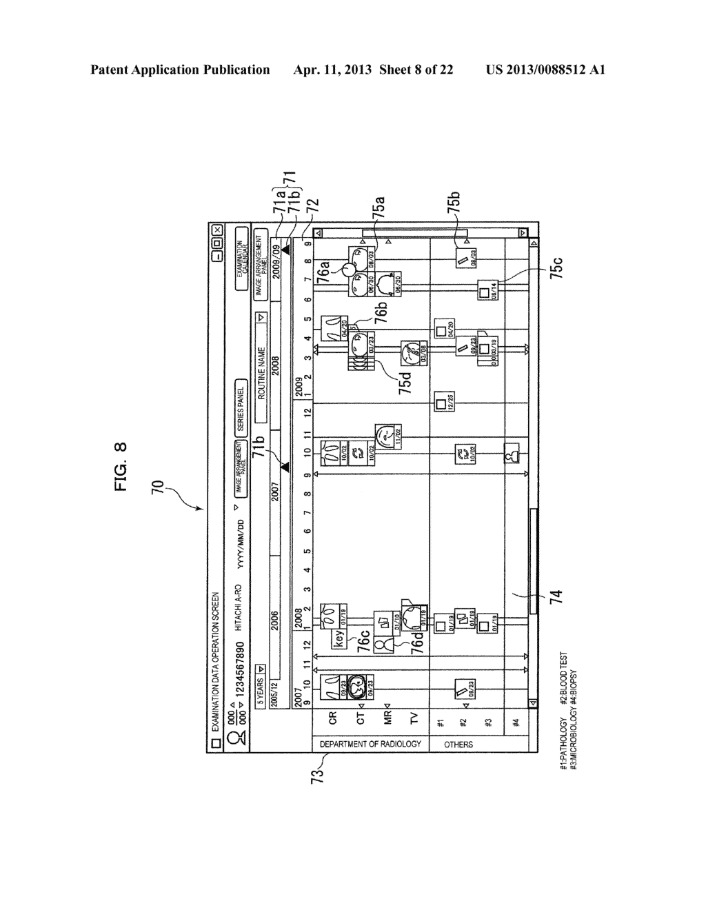 EXAMINATION INFORMATION DISPLAY DEVICE AND METHOD - diagram, schematic, and image 09