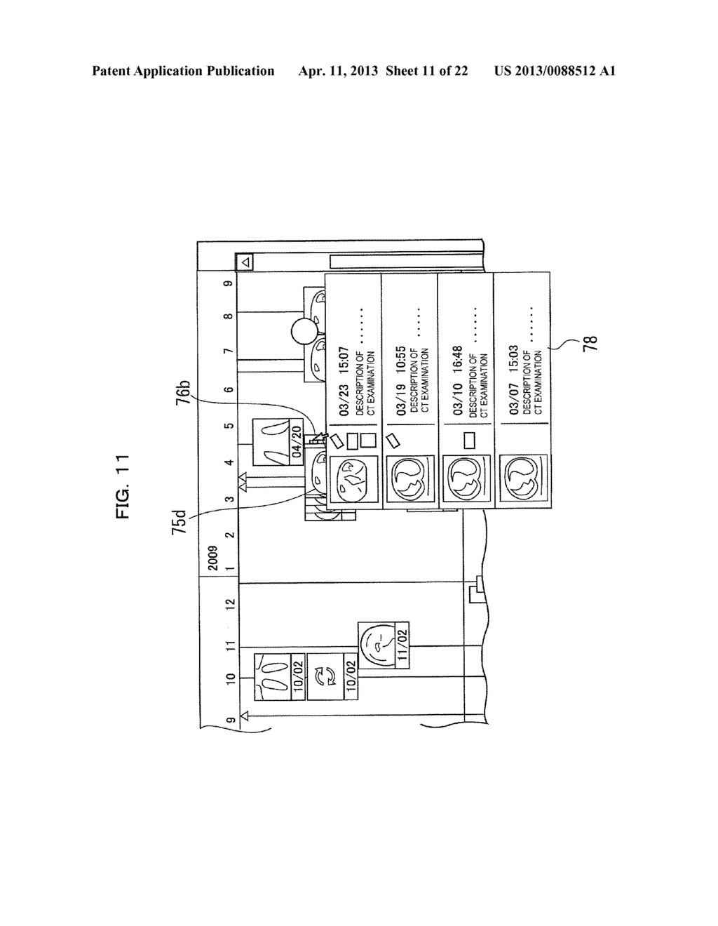 EXAMINATION INFORMATION DISPLAY DEVICE AND METHOD - diagram, schematic, and image 12