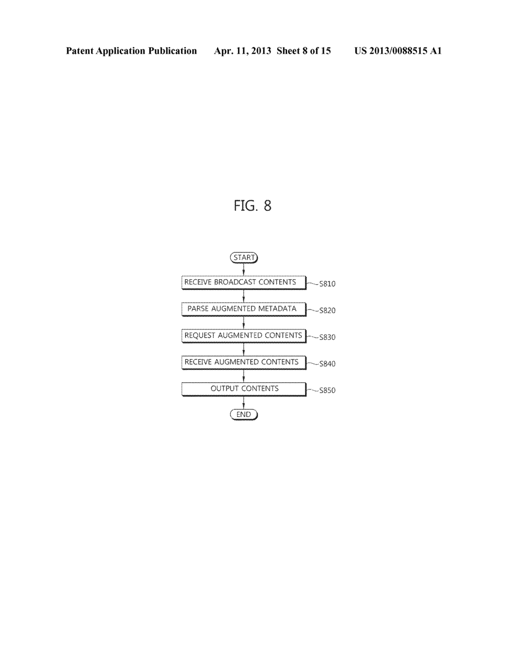 METHOD OF PROVIDING AUGMENTED CONTENTS AND APPARATUS FOR PERFORMING THE     SAME, METHOD OF REGISTERING AUGMENTED CONTENTS AND APPARATUS FOR     PERFORMING THE SAME, SYSTEM FOR PROVIDING TARGETING AUGMENTED CONTENTS - diagram, schematic, and image 09