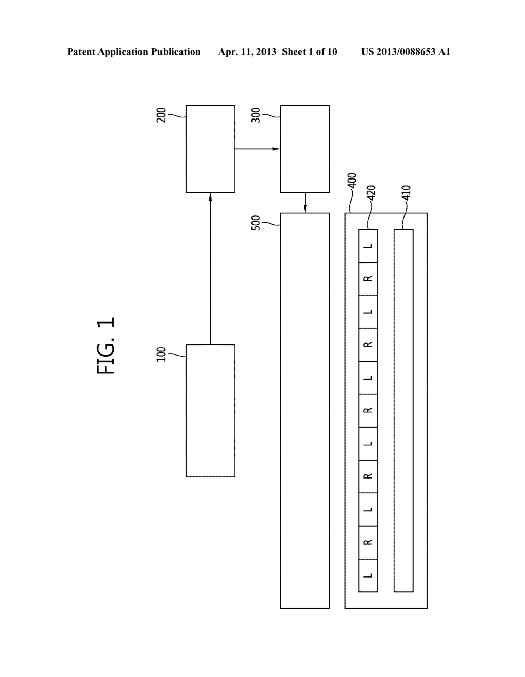STEREO-SCOPIC IMAGE PANEL, STEREO-SCOPIC IMAGE DISPLAY APPARATUS HAVING     THE SAME AND DRIVING METHOD THEREOF - diagram, schematic, and image 02