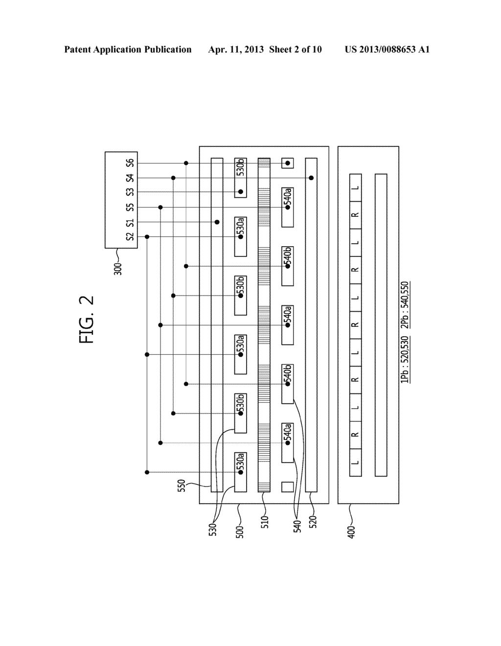 STEREO-SCOPIC IMAGE PANEL, STEREO-SCOPIC IMAGE DISPLAY APPARATUS HAVING     THE SAME AND DRIVING METHOD THEREOF - diagram, schematic, and image 03