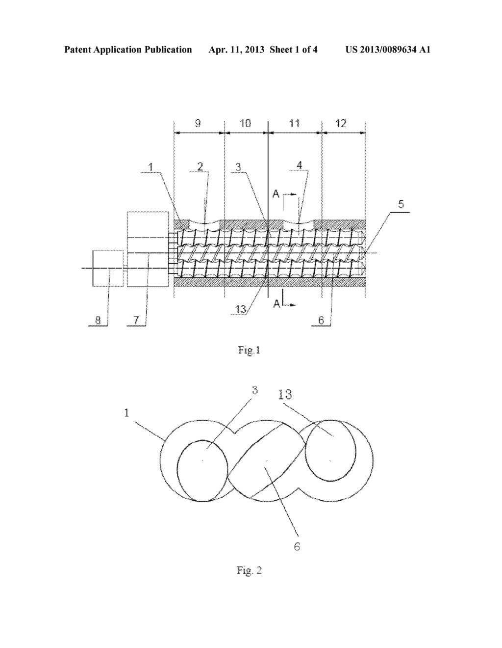 SELF-CLEANING PLASTICIZING VENTING AND EXTRUDING APPARATUS BY CO-ROTATING     NON-TWIN MULTI-SCREWS AND METHOD THEREOF - diagram, schematic, and image 02