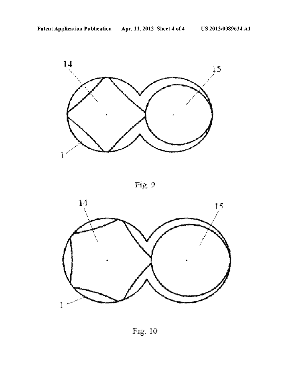 SELF-CLEANING PLASTICIZING VENTING AND EXTRUDING APPARATUS BY CO-ROTATING     NON-TWIN MULTI-SCREWS AND METHOD THEREOF - diagram, schematic, and image 05
