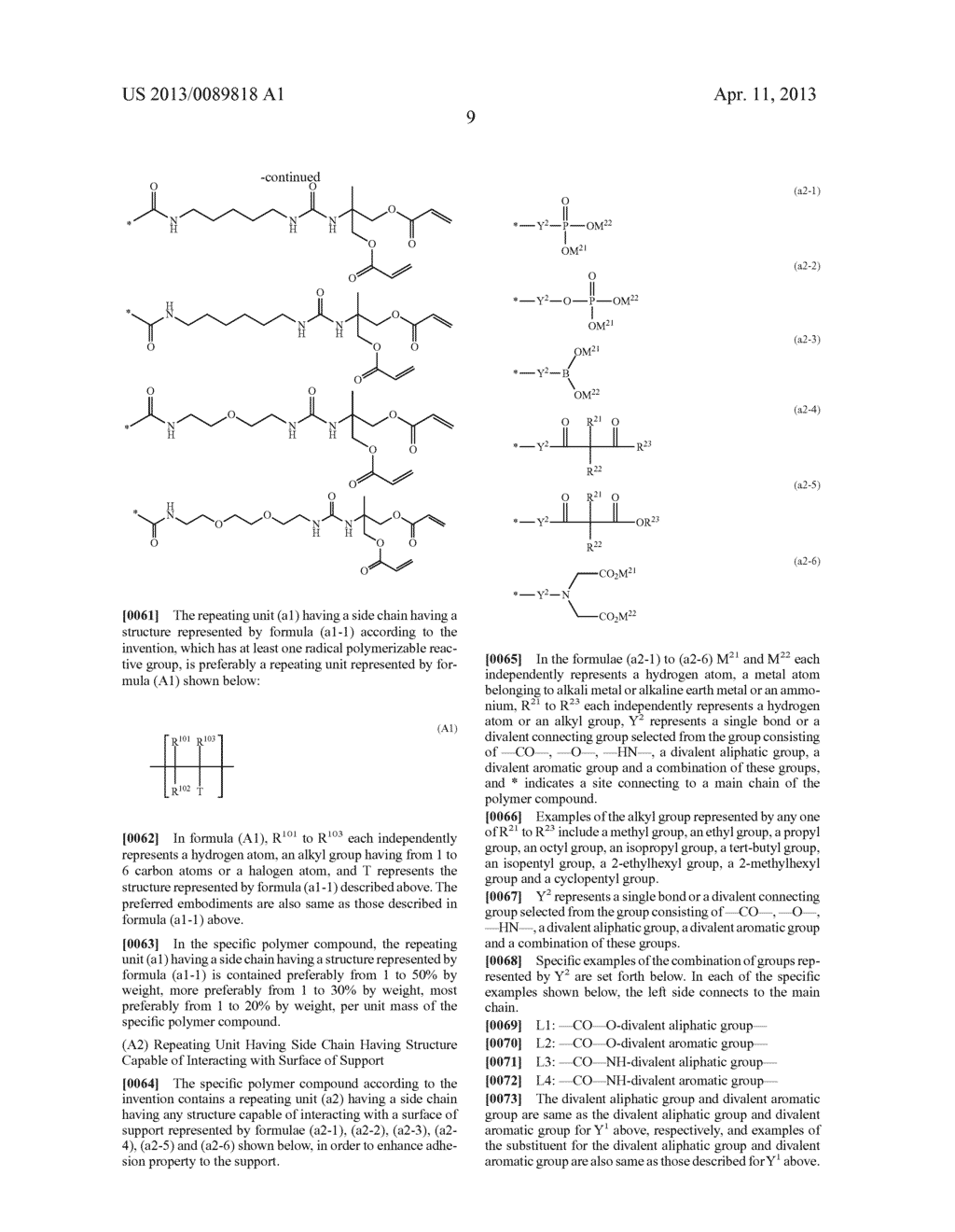 LITHOGRAPHIC PRINTING PLATE PRECURSOR, PLATE MAKING METHOD THEREOF AND     NOVEL POLYMER COMPOUND - diagram, schematic, and image 11