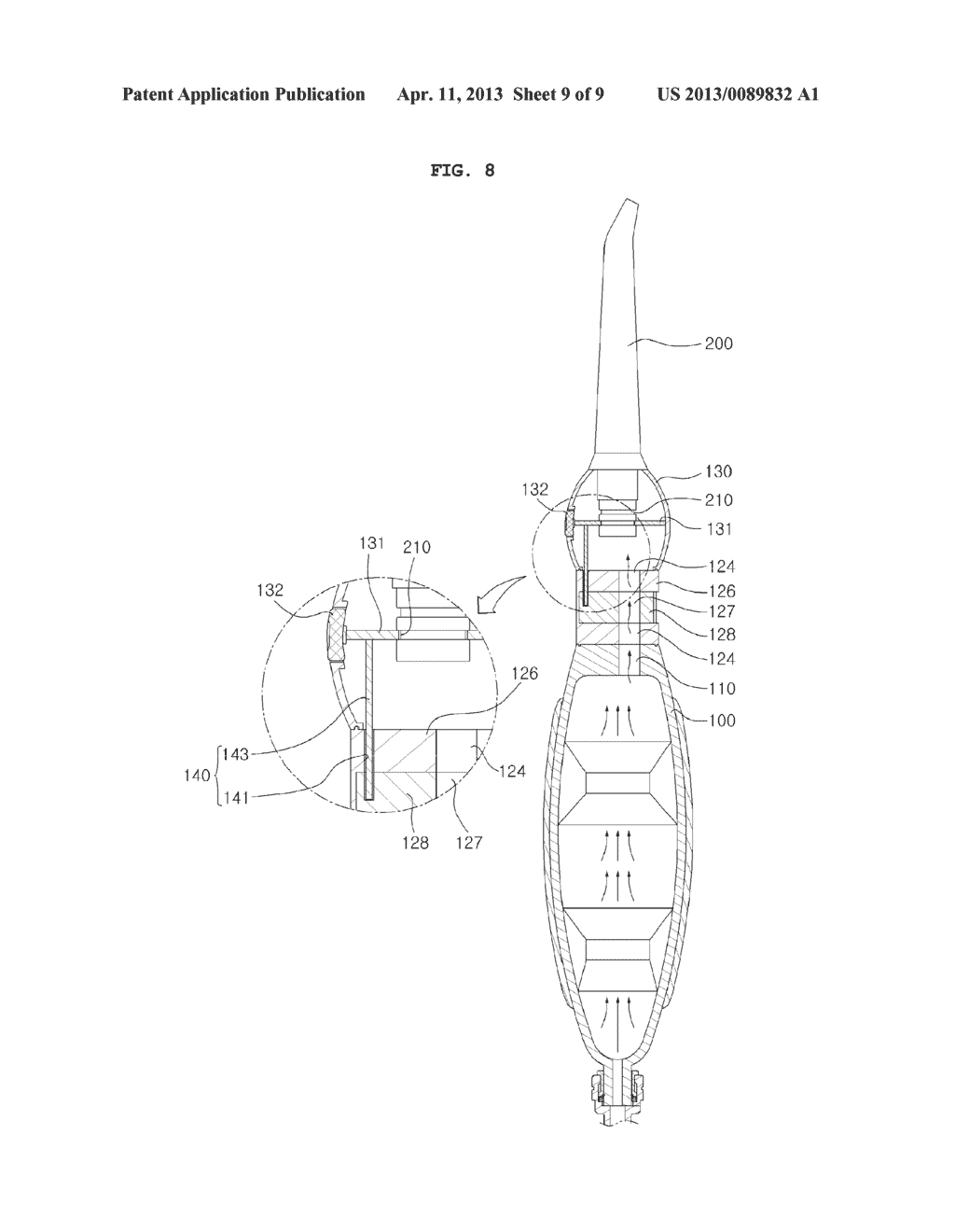 NOZZLE SEPARATING STRUCTURE OF ORAL IRRIGATOR - diagram, schematic, and image 10