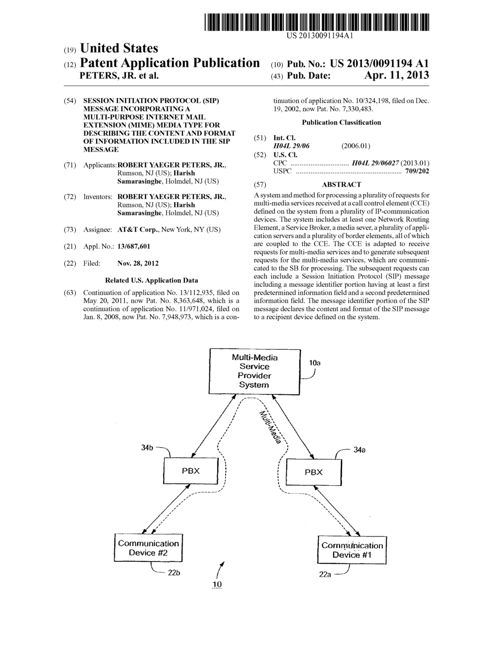 Session Initiation Protocol Sip Message Incorporating A