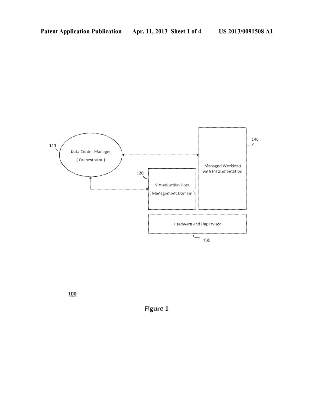SYSTEM AND METHOD FOR STRUCTURING SELF-PROVISIONING WORKLOADS DEPLOYED IN     VIRTUALIZED DATA CENTERS - diagram, schematic, and image 02