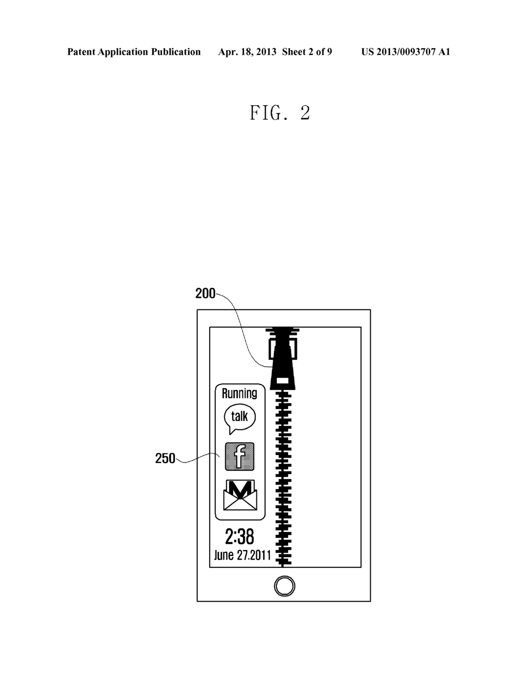 METHOD AND APPARATUS FOR PROVIDING AN UNLOCK FUNCTION OF A TOUCH DEVICE - diagram, schematic, and image 03