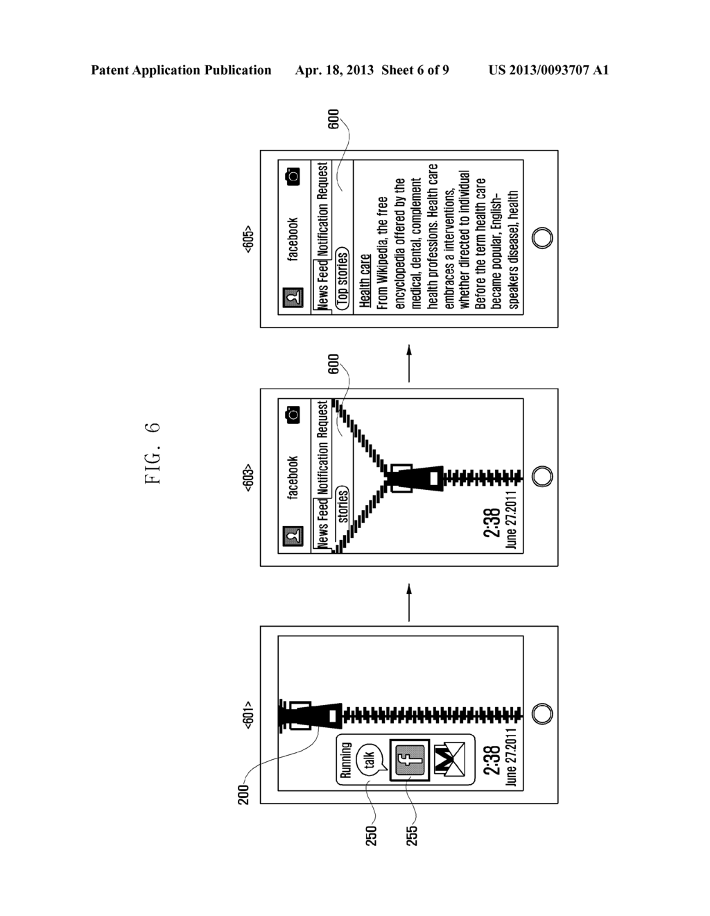 METHOD AND APPARATUS FOR PROVIDING AN UNLOCK FUNCTION OF A TOUCH DEVICE - diagram, schematic, and image 07