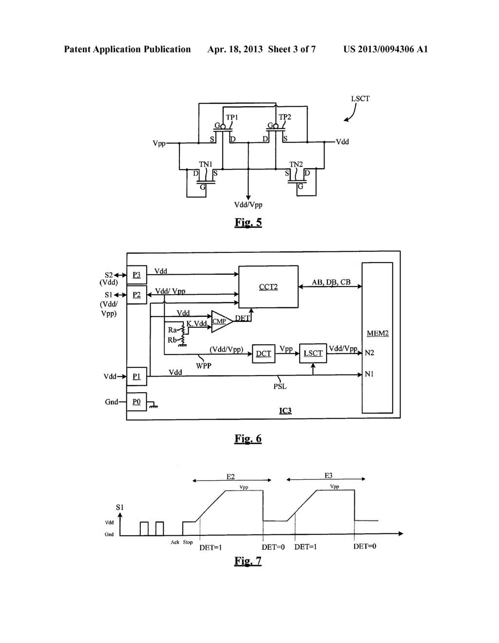 INTEGRATED CIRCUIT COMPRISING A NON-DEDICATED TERMINAL FOR RECEIVING AN     ERASE PROGRAM HIGH VOLTAGE - diagram, schematic, and image 04