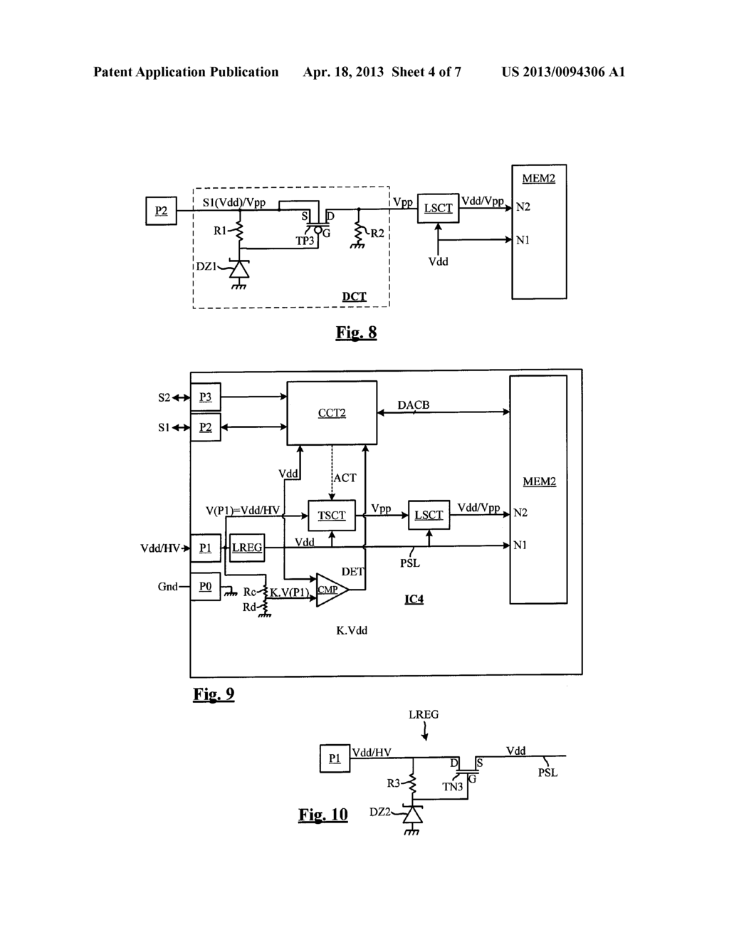 INTEGRATED CIRCUIT COMPRISING A NON-DEDICATED TERMINAL FOR RECEIVING AN     ERASE PROGRAM HIGH VOLTAGE - diagram, schematic, and image 05